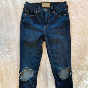 Free people medium blue skinny jeans